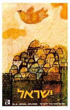 Vintage Poster Israel - A definite before I die. Terre Promise, Arte Judaica, Travel Ads, Jewish Art, Jewish History, Israel Travel, Jerusalem Israel, Vintage Travel Posters, Vintage Art