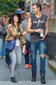 Victoria Justice and Pierson Fode get close on set in New York City on October 15, 2013.
