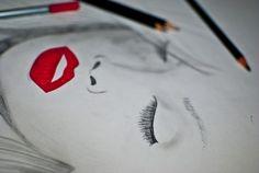 #girl, #makeup #drawing