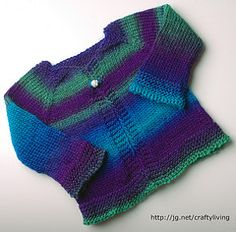 Ravelry: Beaucoup Color Baby Sweater pattern by Lara Neel