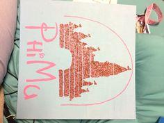 Disney Phi Mu sorority canvas