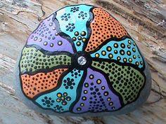 Beach Stone Art/Painted Stones/Painted Rocks/Decorative Stones/Inspirational/Wishing Stone