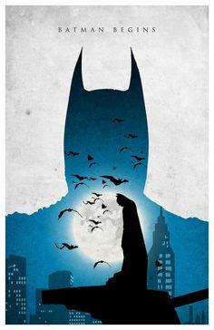 Batman Trilogy Poster Batman Begins by MINIMALISTPRINTS on Etsy