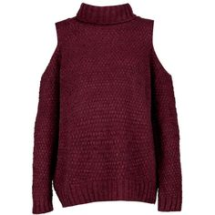 Boohoo Lola Roll Neck Cold Shoulder Jumper | Boohoo ($26) ❤ liked on Polyvore featuring tops, sweaters, open shoulder tops, crew-neck sweaters, purple top, cold shoulder tops and cut out shoulder sweater