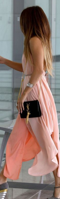Hang Up My Purse by HUMPhooks www.humphooks.com #street #style pink YSL @wachabuy