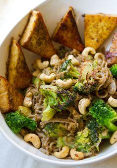 Easy Peanut Lime Soba Noodles Meal  #vegan