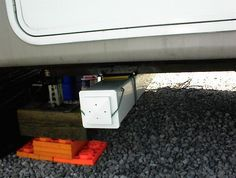 rv storage ideas   Under RV Sewer Hose Storage Tube made from Plastic Fence Post