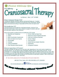 A little bit about Craniosacral Therapy. Read on...