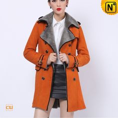 www.cwmalls.com PayPal Available (Price: $1548.89) Email:sales@cwmalls.com; Ladies Genuine Shearling Pea Coat CW644108 Fashion-forward ladies genuine shearling pea coat lifts your spirits every time you wear it, beautiful double breasted sheepskin shearling pea coat let you take on the cold in distinguished style.