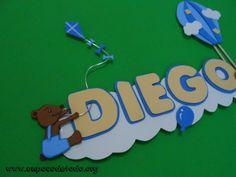 www.unpocodetodo.org - Cartel de Diego - Carteles - Goma eva - air balloon - animales - animals - bear - comet - cometa - crafts - dog - manualidades - oso - perro - 6