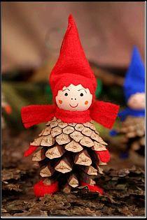 (61) corks make cool things | Carondolet Christmas | Pi… na Stylowi.pl Mdf Christmas Decorations, Christmas Decorations Australian, Christmas Crafts For Kids, Diy Christmas Ornaments, Xmas Crafts, Felt Ornaments, Christmas Elf, Homemade Christmas, Pine Cone Art