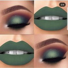 Nice green makeup style Nice green makeup style – Das schönste Make-up Makeup Eye Looks, Cute Makeup, Gorgeous Makeup, Pretty Makeup, Easy Makeup, Simple Makeup, Natural Makeup, Make Up Looks, Eyeshadow Makeup