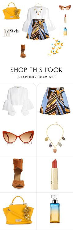 """Multi pendant necklace"" by mariagraziatrotta ❤ liked on Polyvore featuring Delpozo, Emilio Pucci, Tom Ford, Carolina Bucci, Splendid, Axiology, ZAC Zac Posen and Calvin Klein"