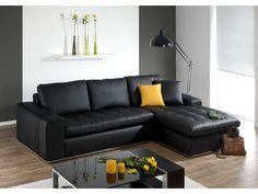 Canapé+d'angle+cuir+luxe+IDOLE+-+cuir+italien+-+Noir+-+Angle+droit