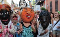 Vejigantes en las Fiestas de la Calle San Sebastián