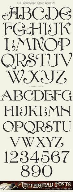 Letterhead Fonts / LHF Confection font set / Decorative Fonts