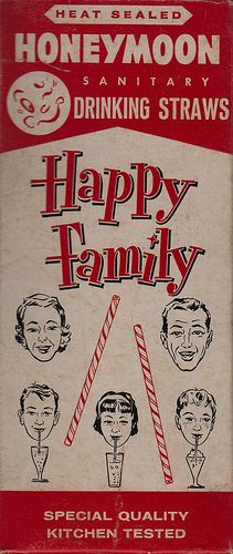 Happy Family Drinking Straws