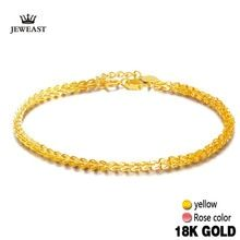 18k Pure Gold Women Bracelet Yellow Rose Girl Genuine Real Solid 750 Gift Female Bangle Upscale Hot Sale 2017 New Party Trendy  Price: 99.47 & FREE Shipping  #jewellery|#elegant|#jewellerysets|#necklaces Bangle Bracelets, Bangles, Necklaces, Rose Girl, Yellow Roses, Jewelry Sets, Pure Products, Jewellery, Free Shipping