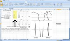Grosgrain: Free Pattern Drafting Calculator for Your Measurements....and my commentary on drafting patterns for dummies;-)