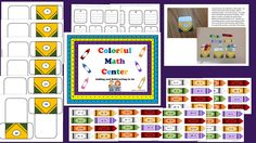 This is a fun center activity for hands on learning for addition and subtraction to 20.