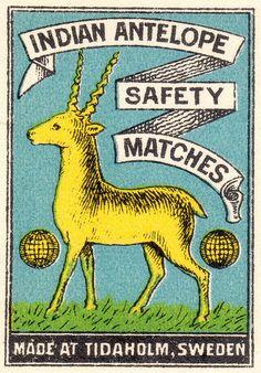 Swedish matchbox, via Pilllpat (Agence Eureka)