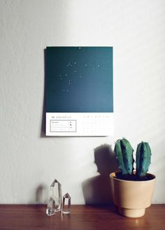 Over the Moon: Chic Celestial Calendars for 2014 | Apartment Therapy