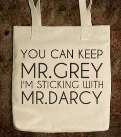 Mr. Darcy Tote - glamfoxx.com - Skreened T-shirts, Organic Shirts, Hoodies, Kids Tees, Baby One-Pieces and Tote Bags