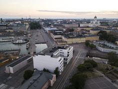 This is the oldest and most central area in the capital of Finland. What´s in the picture? Find out on my website. Drone Photography, Helsinki, Aerial View, Finland, Travel Photos, Paris Skyline, Old Things, Sunset, Building