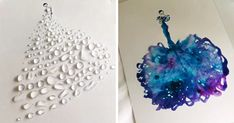 Artist Uses Water Drops And Paint To Create Spontaneous Dress Designs | Bored Panda