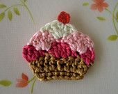 NEW-Cupcake Applique--( 1 pcs ) -03. $2.00, via Etsy.