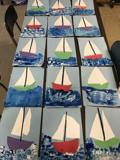 1st grade sailboats, 1st grade art lesson, 1st grade painting, #1stgrade #1stgradeart #firstgrade #firstgradeart #artlessons #elementaryart #elementaryartlessons #sailboats