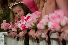 cute one of the flower girl