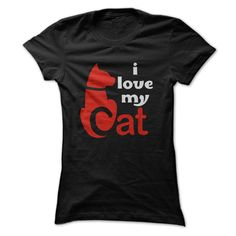 i love my cat T-Shirts, Hoodies. SHOPPING NOW ==► https://www.sunfrog.com/Pets/i-love-my-cat-67145425-Guys.html?id=41382