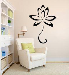Lotus pared calcomanía loto flor Yoga pared por WisdomDecals