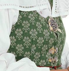 Norwegian bunad from Trondelag Like Image, Going Out Of Business, Pinecone, Gnomes, Baked Goods, Norway, Needlework, Scandinavian, Women's Clothing