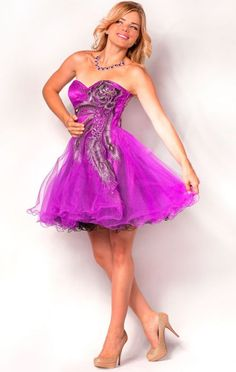 Check Out Our Awesome Product: Nina Canacci Sweetheart Tulle Cocktail Dress With Rhinestone Style CL1515>>>>>>