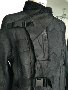 new yesterday - reworked persian fur fashion, mens coat, reversible, one of a kind, slow fashion