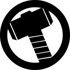 Thor's Hammer Avengers Logo Decal.