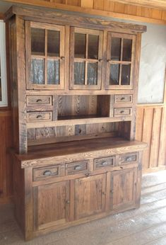 Your place to buy and sell all things handmadeBarnwood farmhouse Stepback Hutch Unfinished Ships FREE toHutch / Farmhouse / kitchen hutch / Cottage / rustic / kitchen cabinet / storage / buffet / china cabinet Rustic Farmhouse Decor, Farmhouse Furniture, Rustic Furniture, Antique Furniture, Rustic Decor, Diy Furniture, Rustic Hutch, Hutch Furniture, Furniture Movers