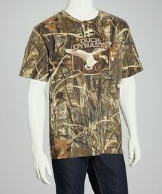 Take a look at this Brown Camo Duck Tee - Men by Club Red on #zulily today!