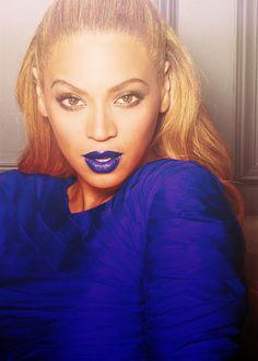 Bey With Blue Lips #BeyonceKnowles, #Beyonce, #bey, https://apps.facebook.com/yangutu