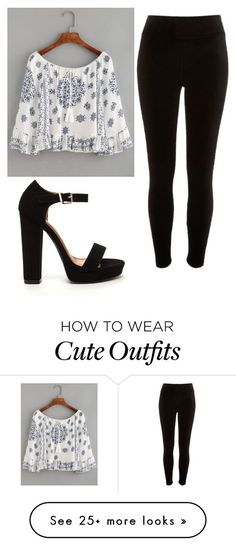 """Cute outfit"" by unicorn-636 on Polyvore featuring WithChic and River Island"