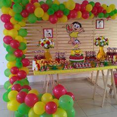 Balloon Arch, Balloons, Watermelon Birthday Parties, Ideas Para Fiestas, Birthday Invitations, Alice, Frozen, Table Decorations, Cake