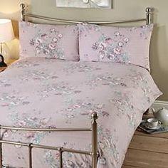 by mauve vintage floral print duvet set