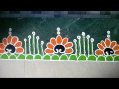 Freehand Rangoli Design(New Year Special) Rangoli Designs Latest, Simple Rangoli Designs Images, Rangoli Designs Flower, Rangoli Border Designs, Rangoli Designs Diwali, Rangoli Designs With Dots, Beautiful Rangoli Designs, Easy Rangoli, Indian Rangoli