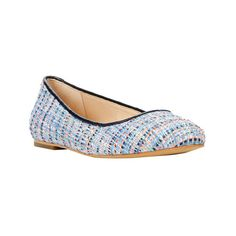 Women's Dr. Scholl's Original Collection Vixen Ballet Flat ($88) ❤ liked on Polyvore featuring shoes, flats, ballet flats, casual, flat shoes, blue ballerina flats, blue flats and flat pumps