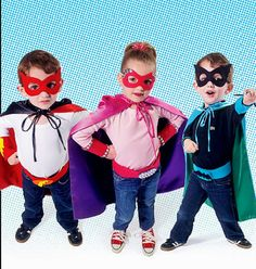 Super Hero Costumes Pattern Childs' Costume Capes by blue510