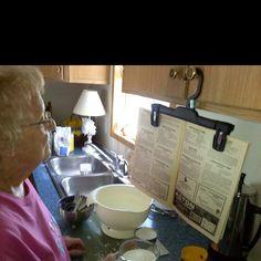 Simple recipe holder!