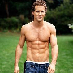 Ok, Is it just me, or are v-shaped lower abs on guys a huge turn on? (Ryan Reynolds )