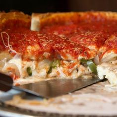 Make our Chicago-Style Italian Sausage And Pepper Deep Dish Pizza Recipe at home tonight for your family. With our Secret Restaurant Recipe your Deep Dish Pizza will taste just like those you get from Giordano's, Pizzeria Uno's, Lou Malnati's, Gino's, Rosati's and many other famous Chicago Culinary Landmarks. There are more great Pizza Places in Chicago than any other city I have ever been to and no trip to the windy city is complete with stopping in at one of the legendary Deep Dish…